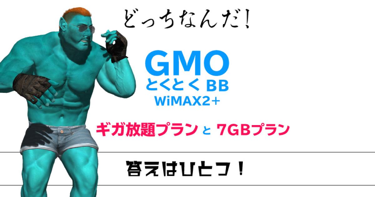 GMOとくとくBB「ギガ放題プラン」と「7GBプラン」を完全比較