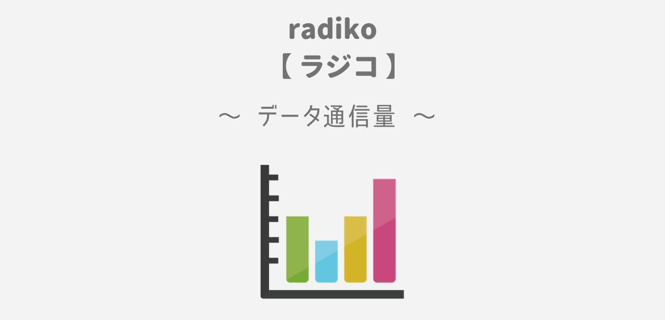 「radiko(ラジコ)」のデータ通信量【1時間で約30MB】