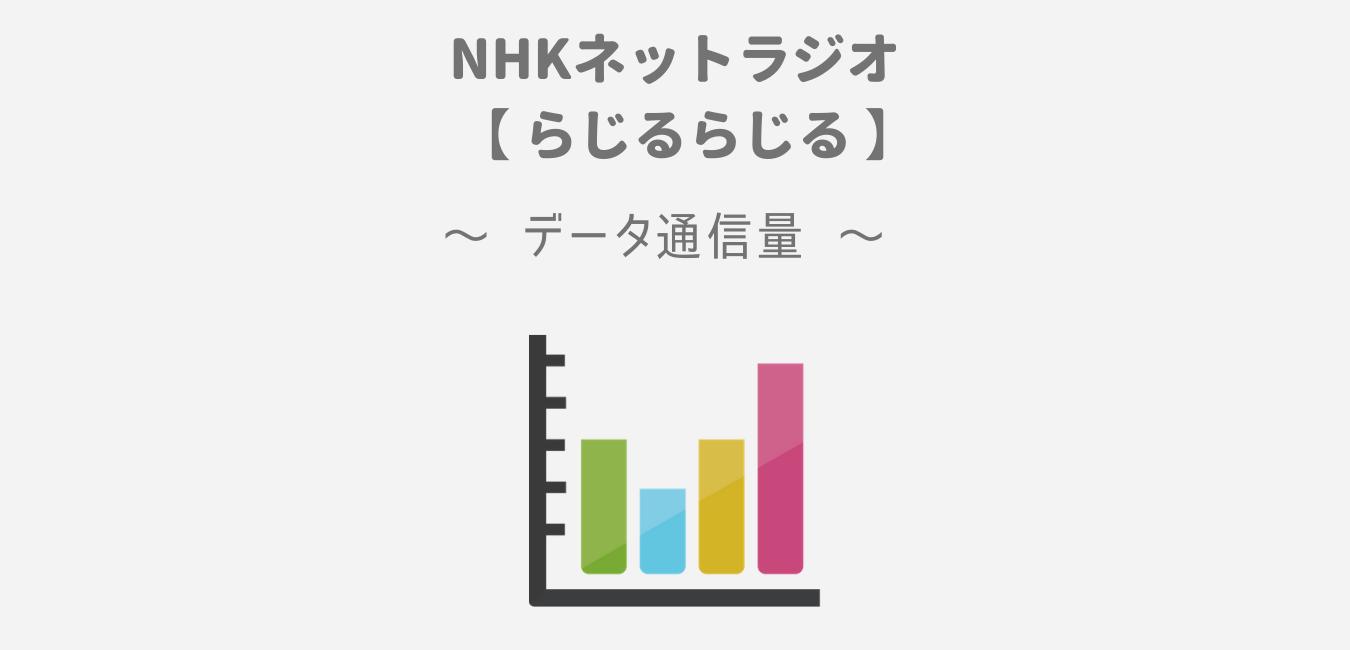 NHKネットラジオ「らじるらじる」のデータ通信量【1時間で約42MB】