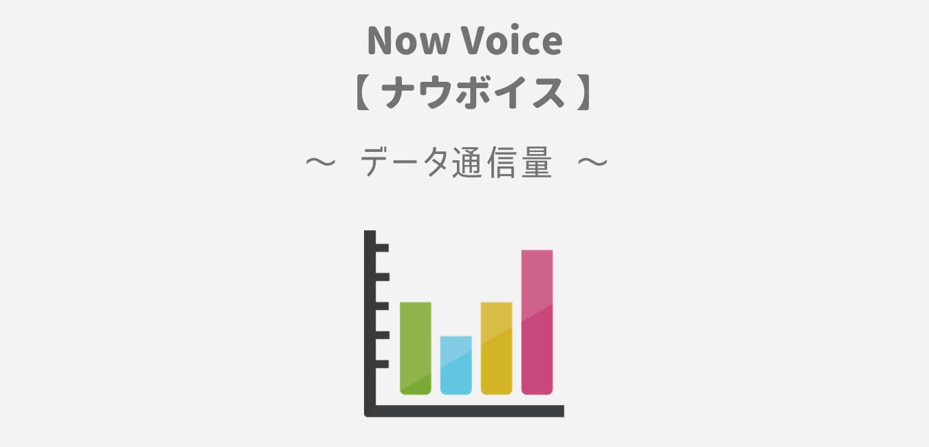 NowVoice(ナウボイス)のアプリデータ通信量【1時間で約30MB】